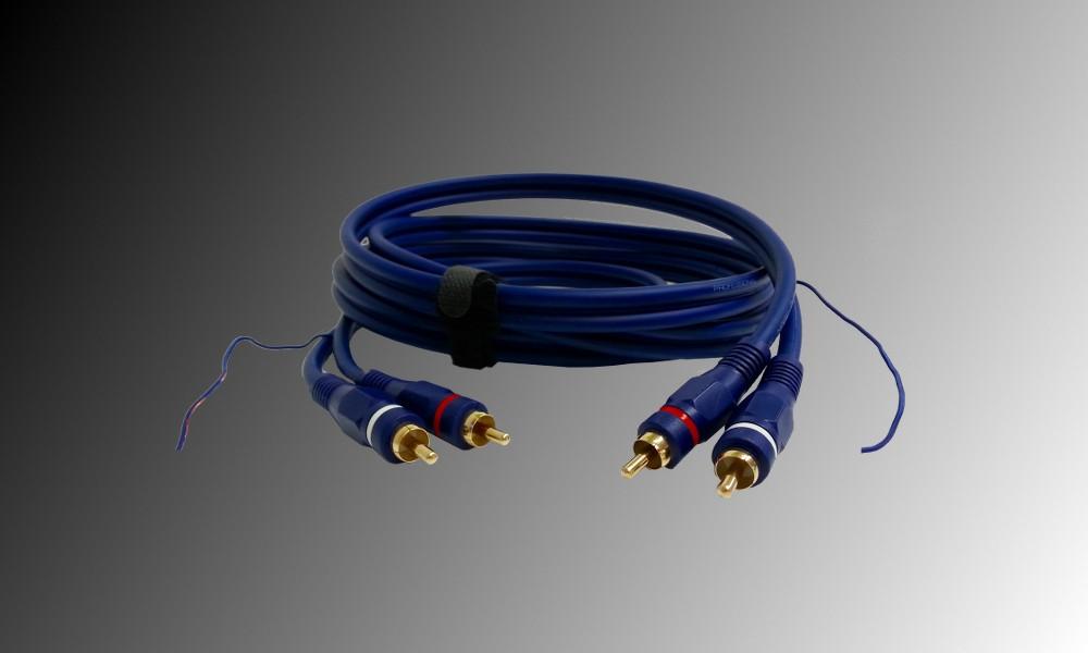 PROJECT Phono-Audiokabel 4 x Cinch mit Erdung - 3m
