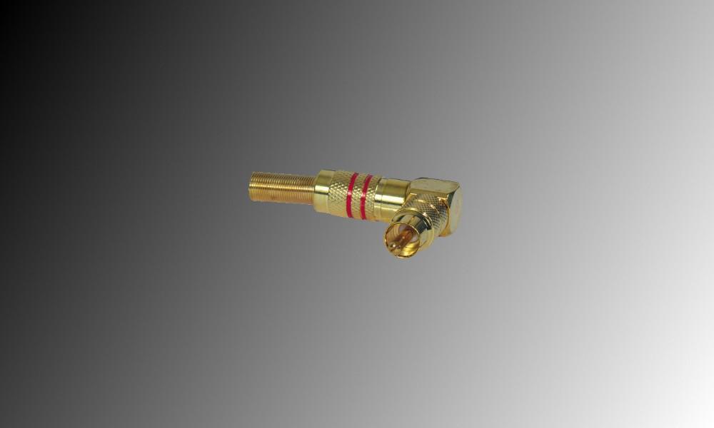 PROJECT Winkel-Cinchstecker gold