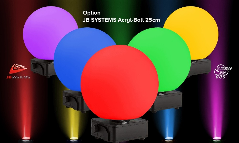 JB SYSTEMS IP-BALL 25 zu ACCU DECOLITE IP