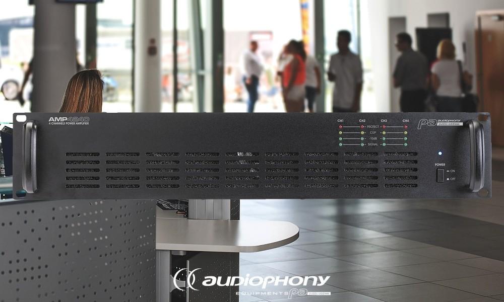 AUDIOPHONY AMP4240 4-Kanal ELA-Endstufe 4 x 240W/100V