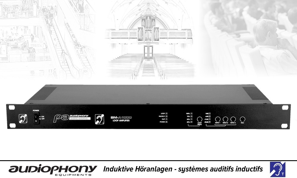 AUDIOPHONY BM-A1000 Induktion/Schleifen-Verstärker