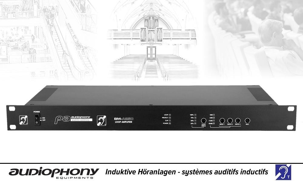 AUDIOPHONY BM-A250 Induktion/Schleifen-Verstärker
