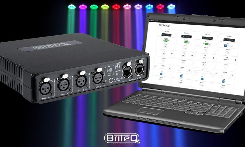 BRITEQ BT-NODE24 ArtNet/sACN DMX Web-Interface