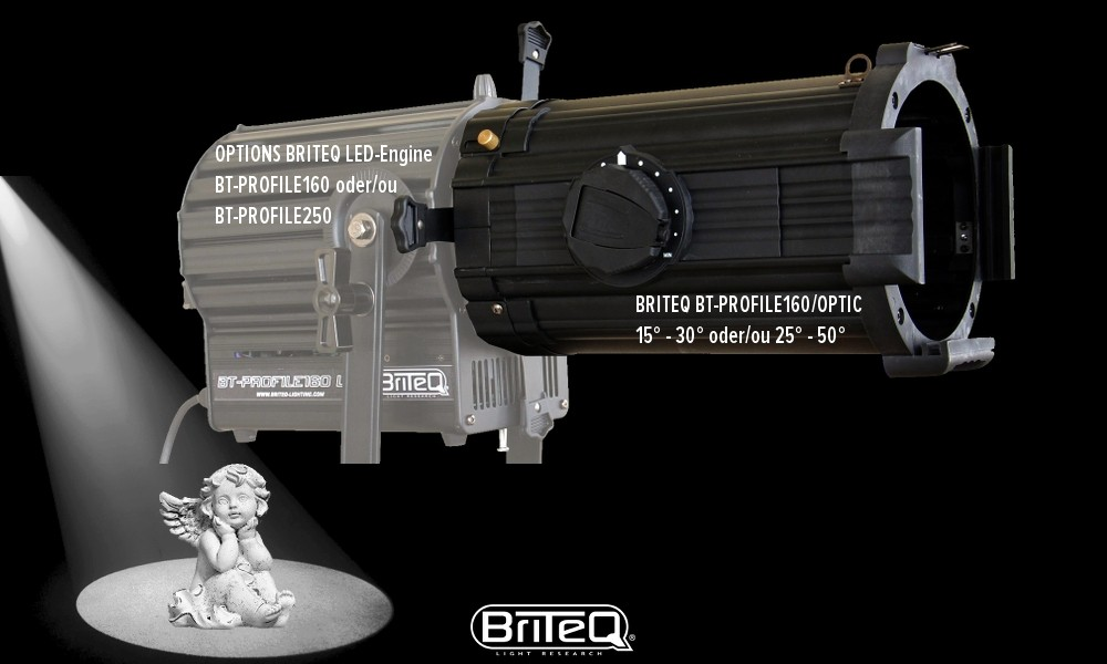 BRITEQ PROFILE160 OPTIK mit variablen Abstrahlwinkel