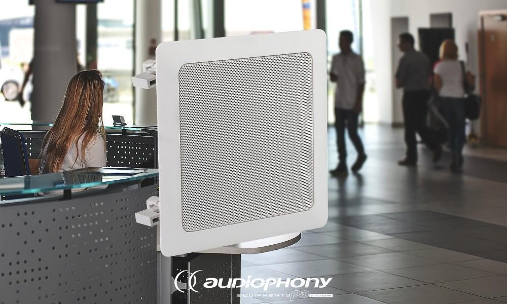 AUDIOPHONY CHP-520SQ Deckenlautsprecher 20W/100V/8Ohm
