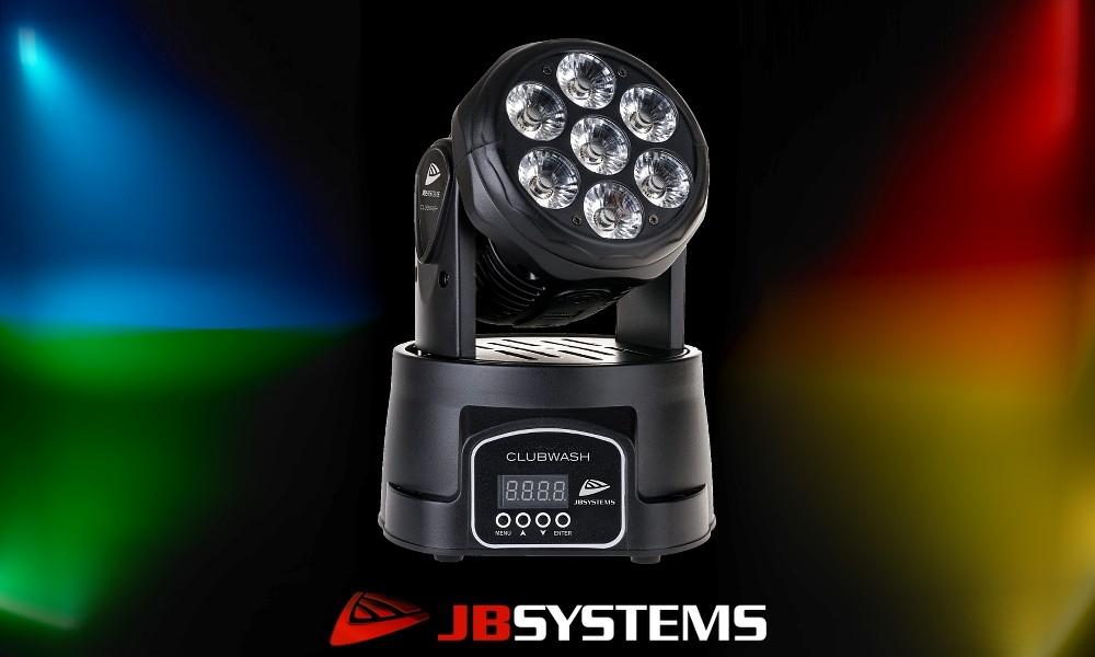 JB SYSTEMS CLUBWASH Moving Head 7x12W RGBWA+UV