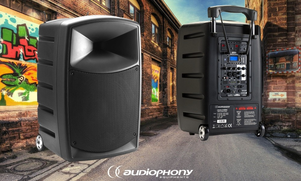 AUDIOPHONY CR25A Mobiles PA-System 250W