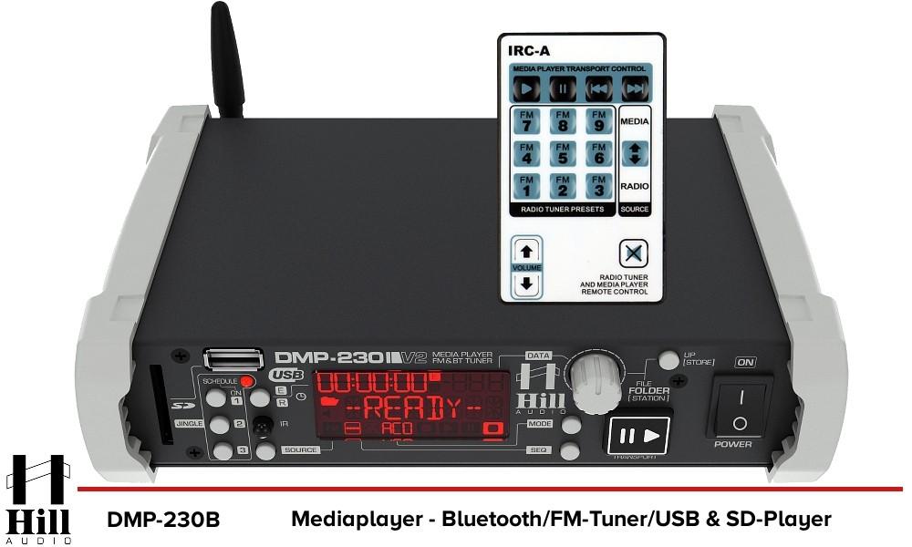 HILL AUDIO DMP-230B Mediaplayer - Bluetooth/USB/FM