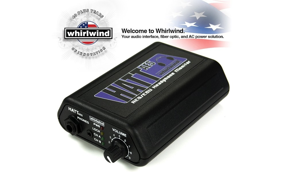 WHIRLWIND HATT-AES Stereo-Kopfhörerverstärker
