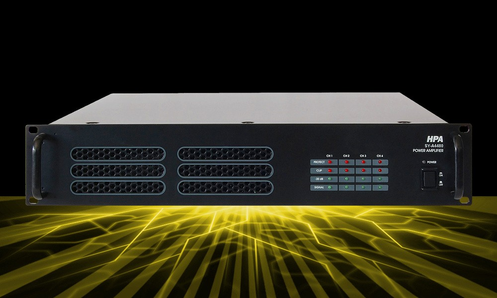 HPA SY-A4480 4-Kanal D-Class ELA-Endstufe 4 x 480W/100V RMS