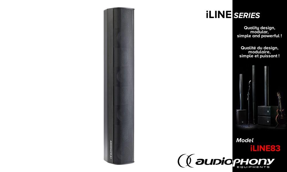 AUDIOPHONY iLINE83 Column Lautsprecher schwarz