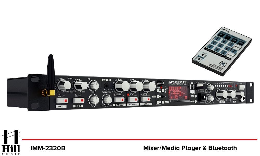 HILL AUDIO IMM-2320B Media Mixer mit Bluetooth/USB/FM