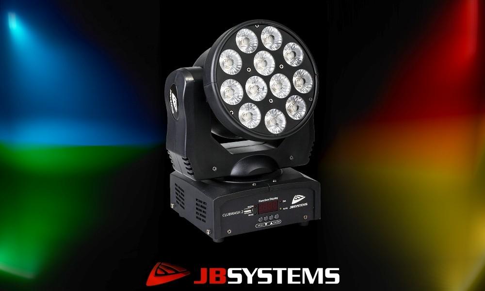 JB SYSTEMS CLUBWASH II Moving Head 12x12W RGBWA+UV