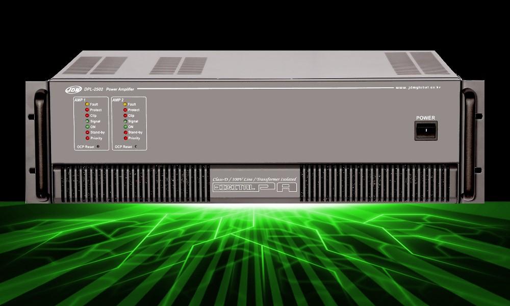 JD-MEDIA DPL-2502 Digitale 2-Kanal ELA-Endstufe - 2 x 250W - 100V