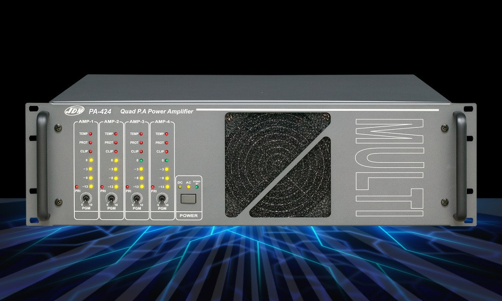 JD-MEDIA PA-424DP 4-Kanal ELA-Endstufe 4 x 240W - 25V/50V/100V