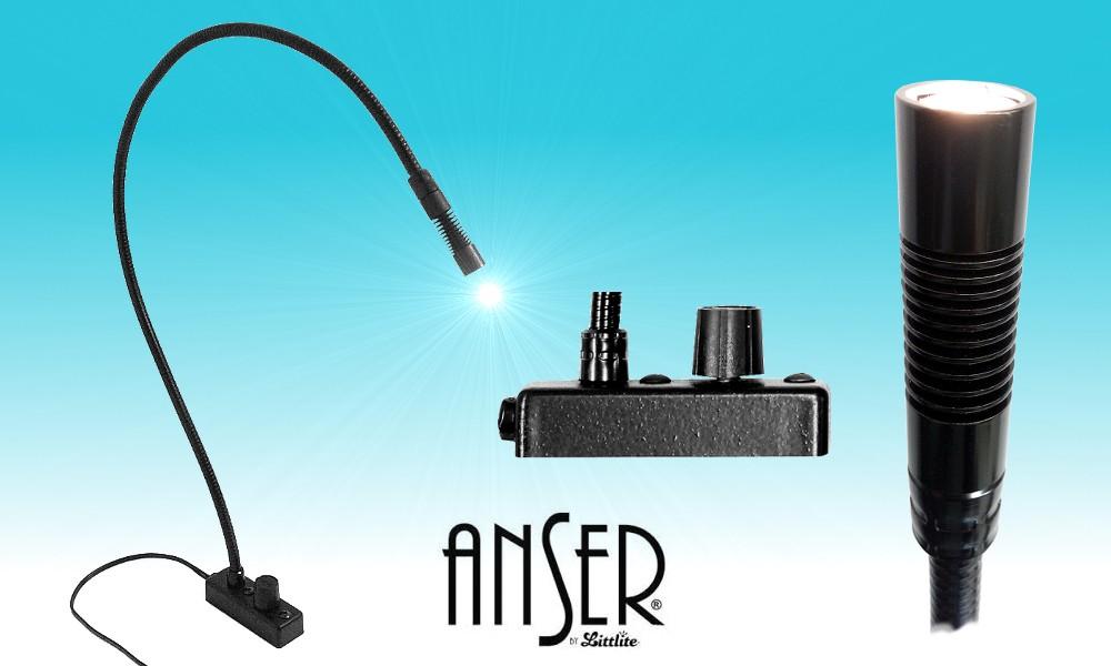 LITTLITE ANSER® LED-Schwanenhalslampen mit Dimmer und Montagesockel