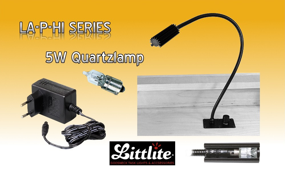 LITTLITE LA-P-HI Pultlampen Set mit Dimmer - 5W Quartzversion