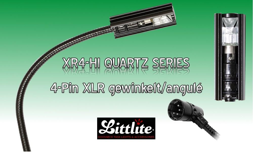 LITTLITE XR4-HI SERIES Professionelle Schwanenhalslampen 4-Pol XLR/M gewinkelt - 5W