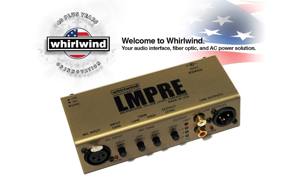 WHIRLWIND LMPRE Mic/Line Preamp