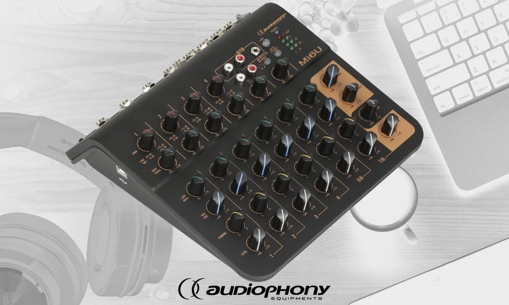 AUDIOPHONY Mi6U Audio-Mixer mit USB-Schnittstelle