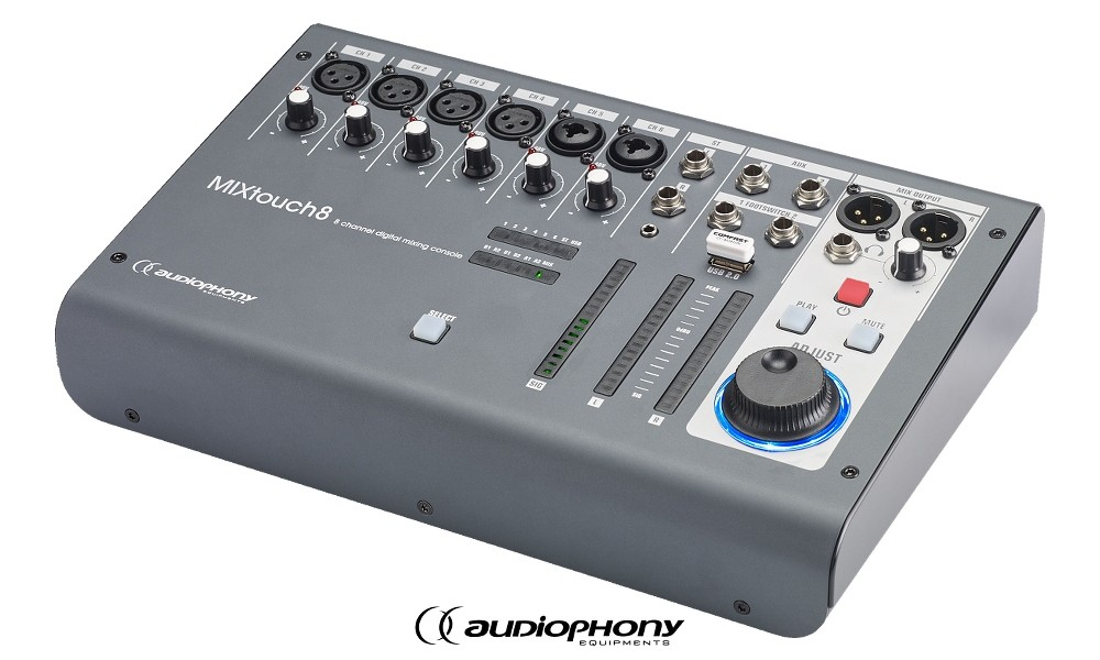 AUDIOPHONY MIXtouch8 8-Kanal Digitalmixer mit Web-Interface