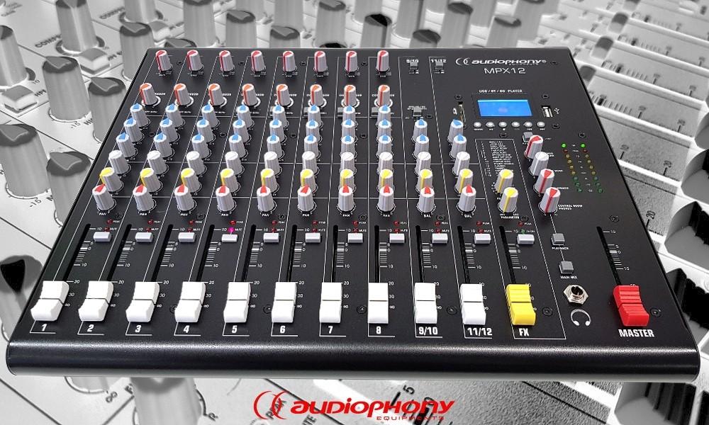 AUDIOPHONY MPX12 Mixer mit Bluetooth/USB/DSP