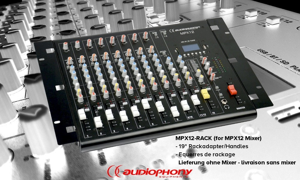AUDIOPHONY MPX12-RACK - Rackhandle-Set 19""