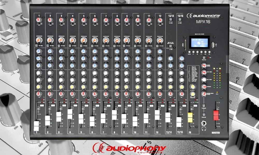 AUDIOPHONY MPX16 Mixer mit Bluetooth/USB/DSP