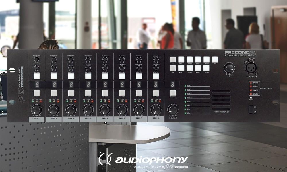 AUDIOPHONY PREZONE88 Audiomatrix 8in/8out