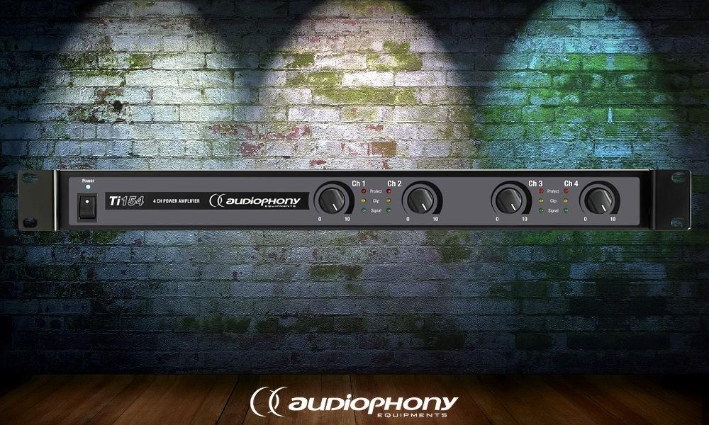 AUDIOPHONY Ti-154 4-Kanal Digital-Endstufe 4 x 150W