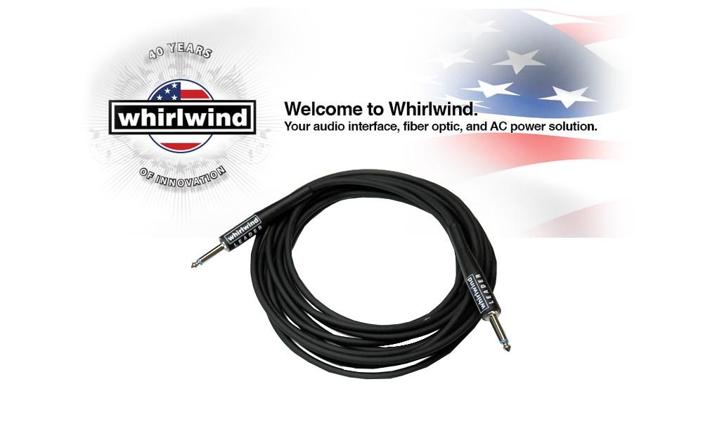 WHIRLWIND LEADER Premium Instrumenten- und Linienkabel Jack gerade/Jack gerade