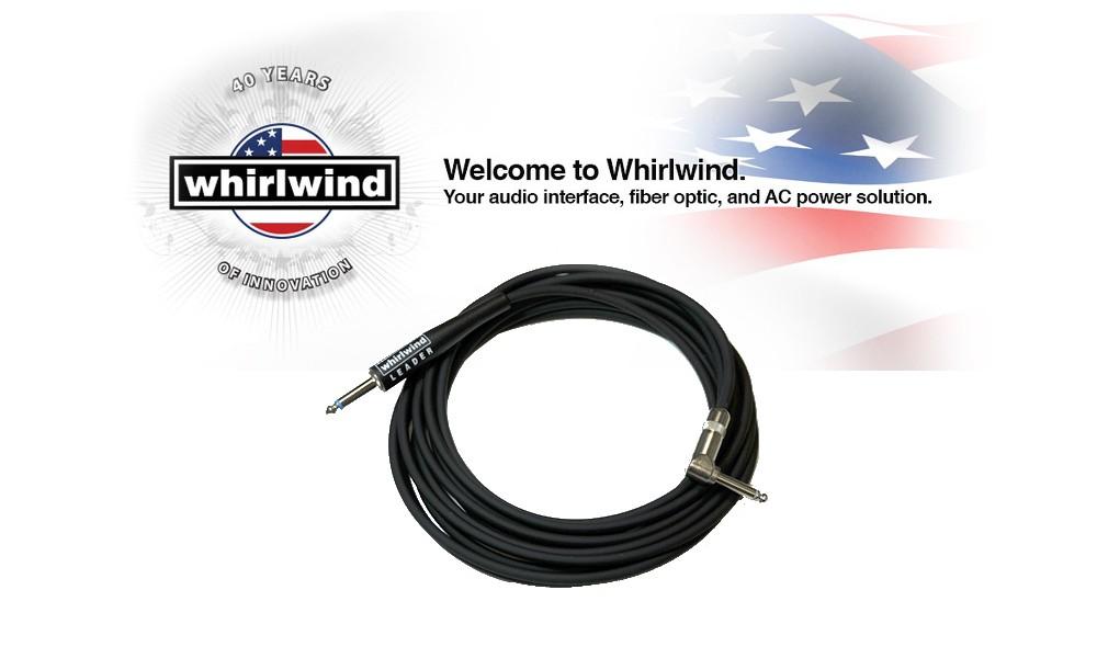 WHIRLWIND LEADER Premium Instrumenten- und Linienkabel Jack gerade/Jack gewinkelt