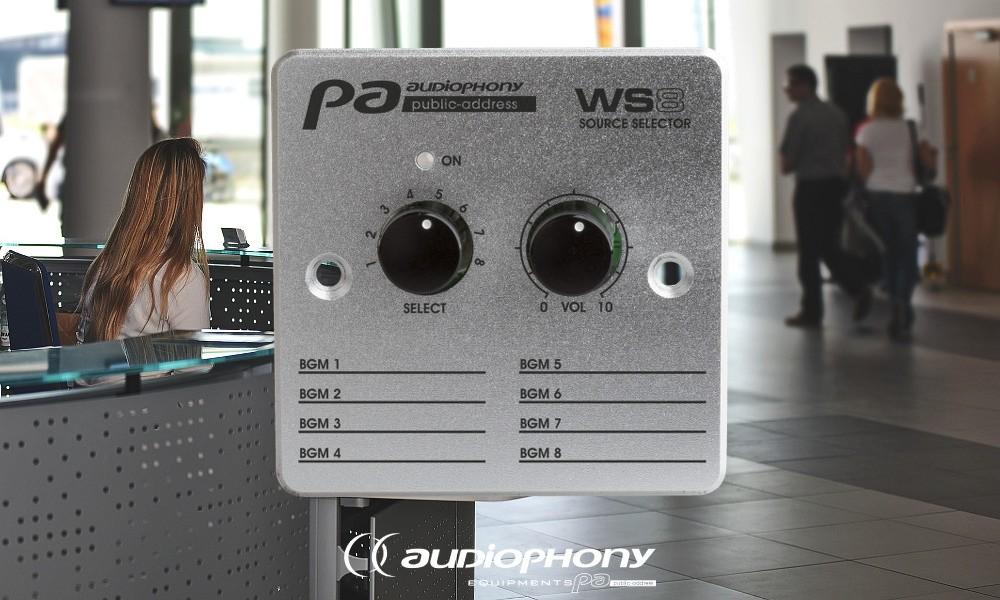 AUDIOPHONY WS8 Matrix Wandkontroller