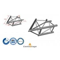 CONTESTAGE AG29-020 Winkel triangular 60°, 2 Directions, Farbe ALU