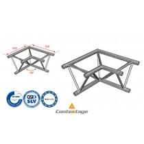 CONTESTAGE AG29-021 Winkel triangular 90°, 2 Directions, Farbe ALU