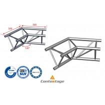 CONTESTAGE AG29-022 Winkel triangular 120°, 2 Directions, Farbe ALU