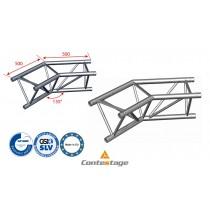 CONTESTAGE AG29-023 Winkel triangular 135°, 2 Directions, Farbe ALU