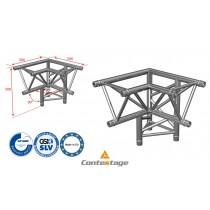 CONTESTAGE AG29-034 Winkel triangular 90°, 3 Directions, Farbe ALU