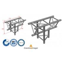 CONTESTAGE AG29-035 T-Winkel triangular 90°, Vertikal, 3 Directions, Farbe ALU