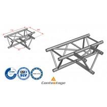 CONTESTAGE AG29-036 T-Winkel triangular 90°, Horizontal, 3 Directions, Farbe ALU