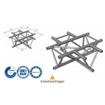 CONTESTAGE AG29-041 Kreuzwinkel triangular 90°, 4 Directions, Farbe ALU