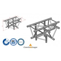 CONTESTAGE AG29-042 T-Winkel triangular 90°, 4 Directions, Farbe ALU