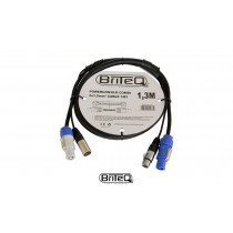 BRITEQ DMX Combi/Hybridkabel PowerCon/3-PIN-XLR
