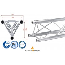 CONTESTAGE DECO22T-PT50 Triangular Truss 50cm, Farbe ALU