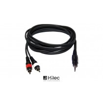 HILEC Audiokabel Stereo Minijack 3.5mm - 2 x Cinch
