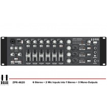 HILL AUDIO ZPR-4620 4-Zonen Stereo Mixer