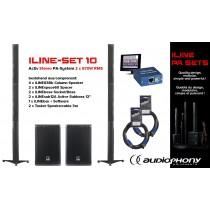 AUDIOPHONY iLINE PA-SET 10 Aktiv Stereo PA-System 2x670W, DSP