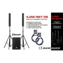 AUDIOPHONY iLINE PA-SET 6 Aktiv Stereo PA-System 1320W, Bluetooth