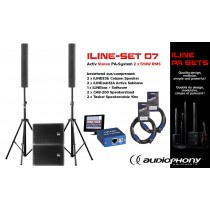 AUDIOPHONY iLINE PA-SET 7 Aktiv Stereo PA-System 2x510W, DSP