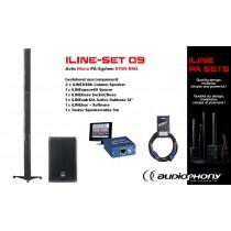 AUDIOPHONY iLINE PA-SET 9 Aktiv Mono PA-System 670W, DSP